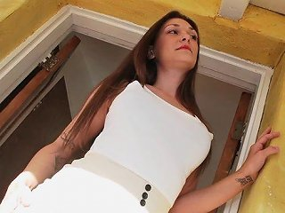 Horny Cheating Brunette Wife Likes Fucking Her Hubby's Employees