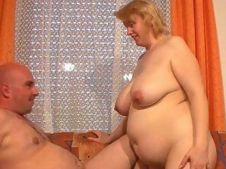 This Nasty Fat Mature Whore Rides It Like She Means It