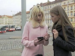 Ardent Czech Blond Head Ria Sunn Gets Picked Up By Blonde Milf For Mff