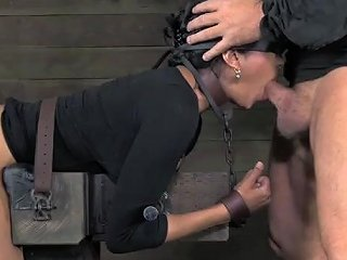 Beautiful Girl In The Dungeon Takes Two Dicks
