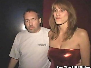 Hot Cheating Wife Gang Banged In A Public Jizz Covered Porn Theater