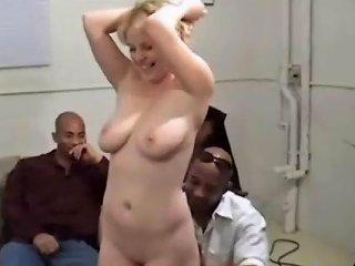 Skinny Young Blonde Enjoys 4 Fat Black Cocks Free Porn 8c
