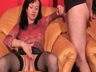 Check My Milf Jerking Me Off Sexy Mature In Stockings